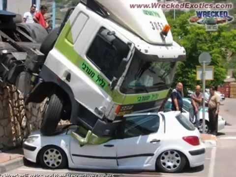 extremely weird car crashes