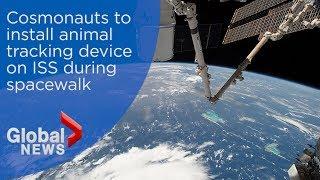 ISS spacewalk by Russian cosmonauts