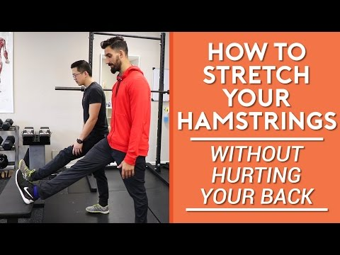 How to stretch your hamstrings without hurting your back