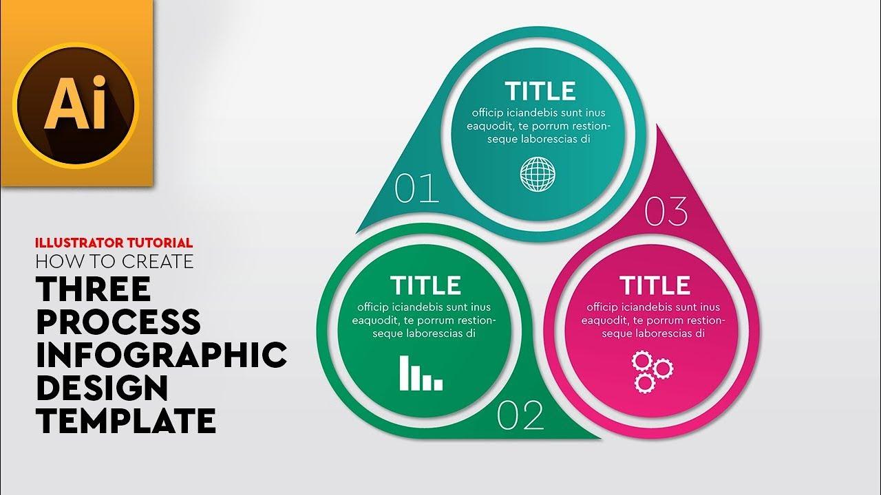 Create Process Diagram Infographic Template Design In Adobe Illustrator Cc Youtube