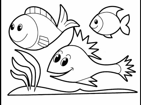 How to draw a cartoon fish cute and easy learn colors