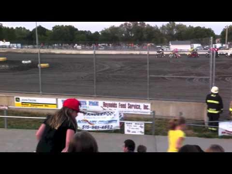 McKenna Haase at Warren County Speedway 8/4/12 Finals