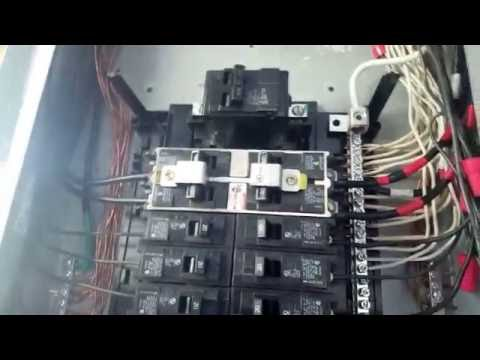 Explaining how I installed the Alternating current on the off-grid on-grid Sub panel.
