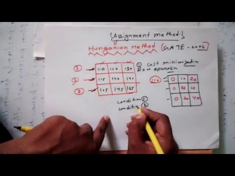How to Solve Assignment Problem Hungarian Method- Simplest Way GATE Questions With Solutions