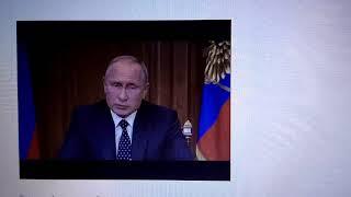 В прямом эфире обращение Путина.
