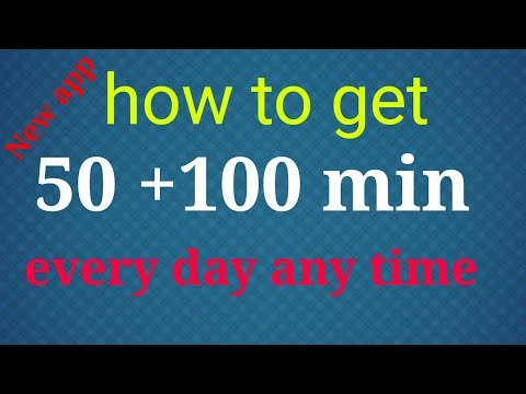 new app Get 50+100 min daily free call