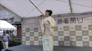 2016/09/18 お初天神音祭りにて 神野美伽さん「あんたの大阪」 雨がポロ...