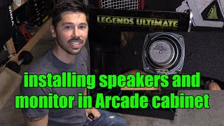 How to Replace a LCD Screen Monitor & Speakers in Legends Ultimate Arcade Cabinet