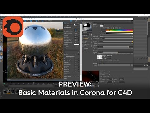 PREVIEW: Basic Materials in Corona for C4D (Feb 2017)