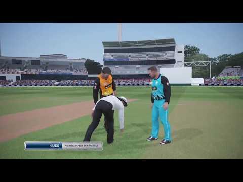 BBL T10 in Ashes cricket PS4 - Game 5 - Perth Scorchers v Brisbane Heat