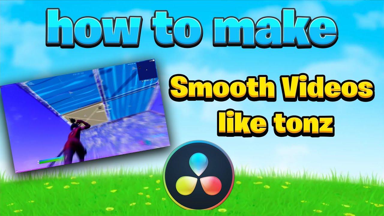 How to make Smooth *Motion Blur* fortnite Videos Like Tonz (Davinci Resolve, RSMB) (Youtube Shorts)