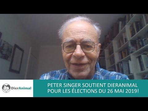 Peter Singer soutient DierAnimal pour les élections du 26 mai 2019!