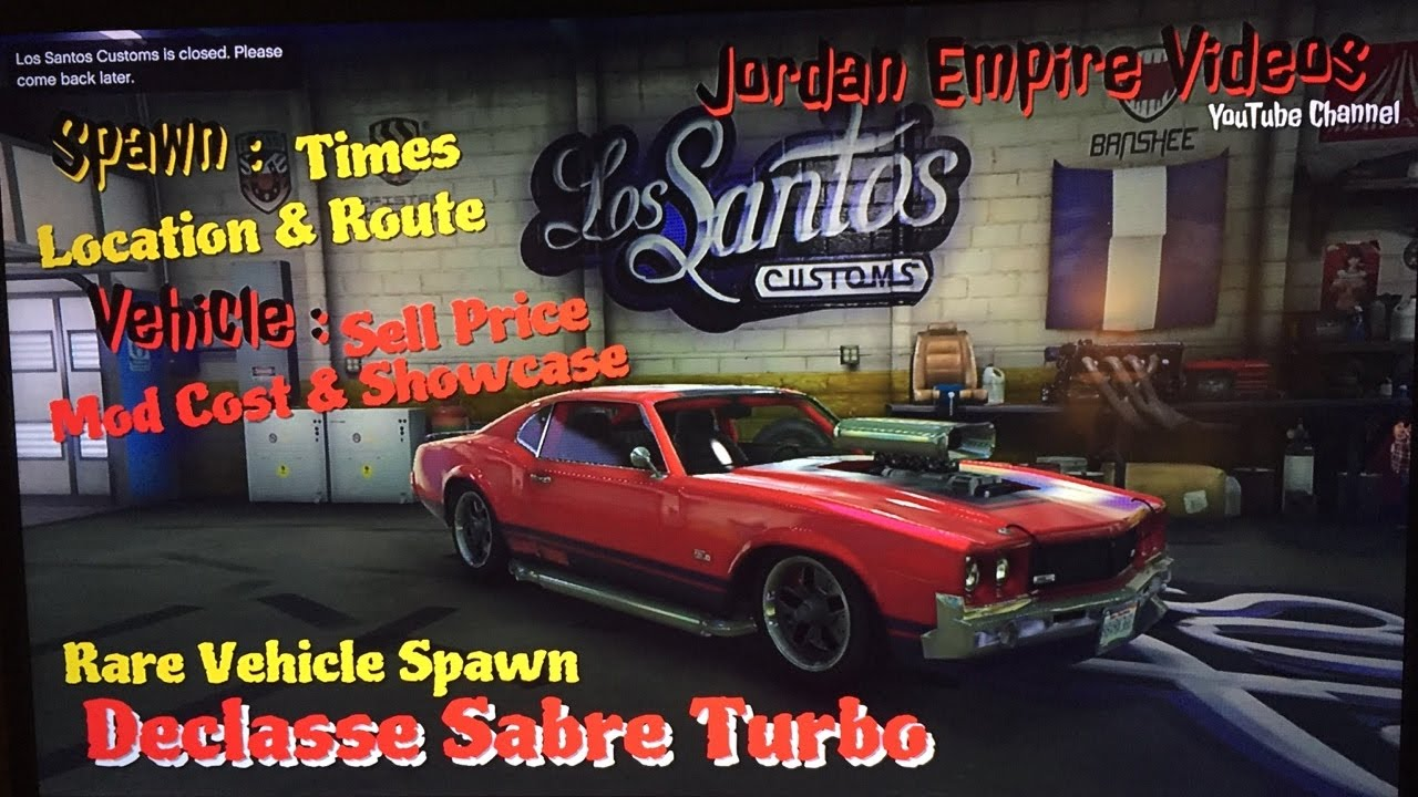 Gta 5 Rare Vehicle Spawn Custom Sabre Turbo Times Location