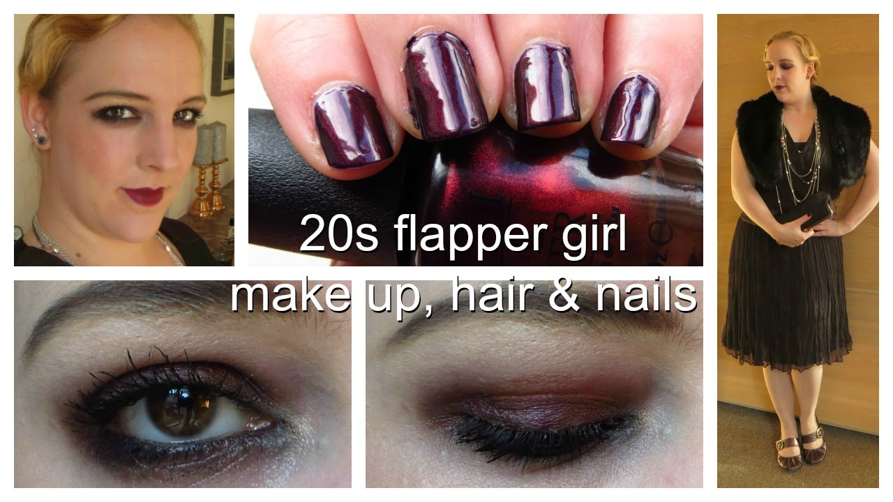 1920s Flapper Girl Vintage Hair, Make Up, Nails & Outfit - YouTube
