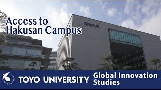 Course of Global Innovation Studies, Toyo Univ Graduate Schools:5 Access and ending