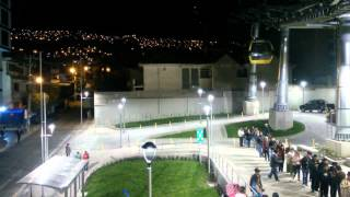"La Paz - Bolivia / ""Mi Teleferico"" YELLOW LINE IN THE NIGHT"
