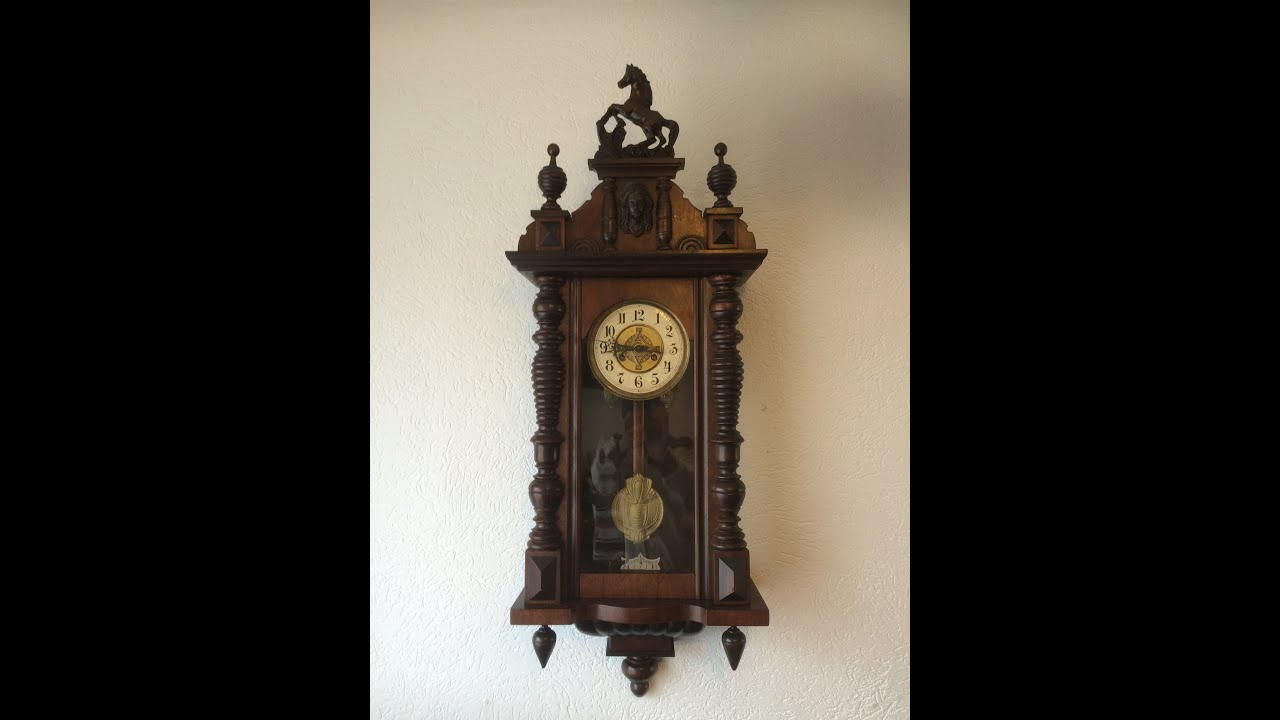 Antique german Junghans Wrttemberg wall clock by Din973 E18
