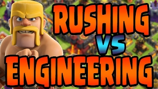 Clash of Clans: Rushing vs Engineering vs Ethical Upgrading