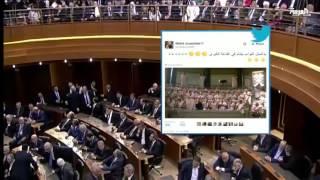 جنبلاط ينشر من داخل البرلمان تغريدات من العصر الروماني
