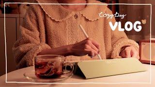 Eng) 아이패드로 드로잉 연습 예쁜 겨울잠옷 언박싱,…