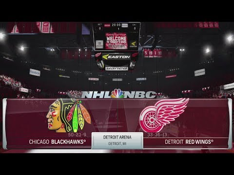 NHL 18 Gameplay - Chicago Blackhawks vs Detroit Red Wings