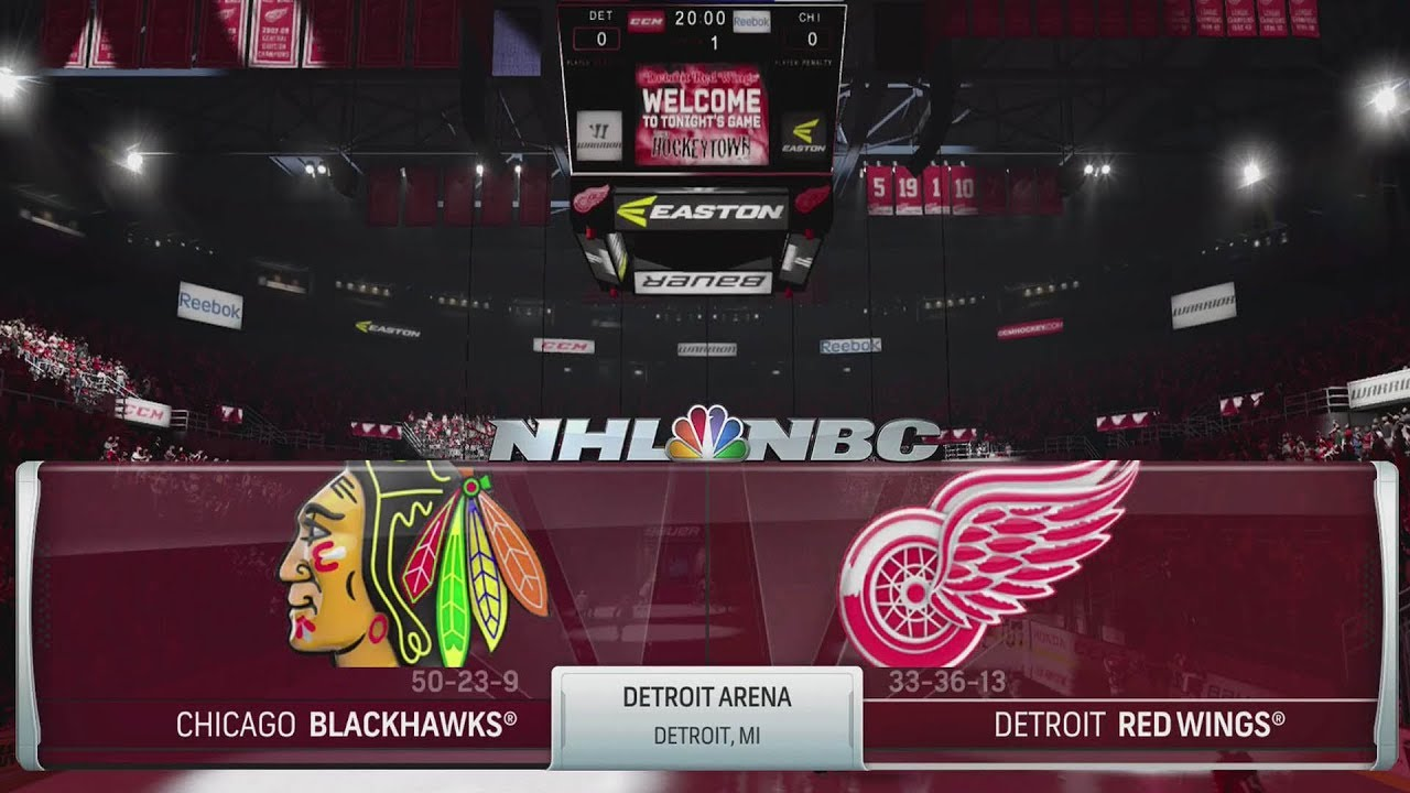 NHL 18 Gameplay - Chicago Blackhawks vs Detroit Red Wings - YouTube 17a97fcec4c3