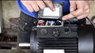 распаковка:Асинхронный мотор на 220 вольт 2,2кВт