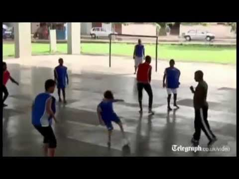 Gabriel Muniz - AMAZING Footless Soccer Player to Train with Barcelona Football Club FC