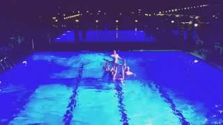 Synchronized swimming show. Водный балет Русалочки