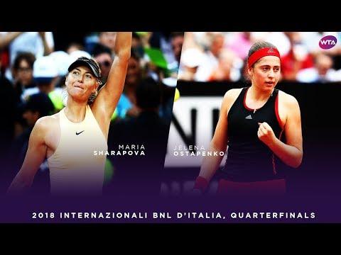 Maria Sharapova vs. Jelena Ostapenko | 2018 Internazionali BNL d'Italia Quarterfinals