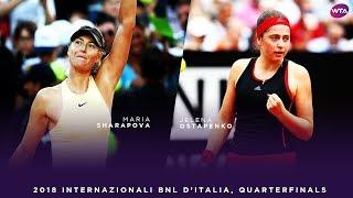 Maria Sharapova vs. Jelena Ostapenko | 2018 Internazionali BNL d