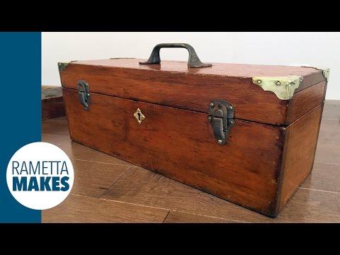How to Restore an Antique Wood Toolbox // DIY
