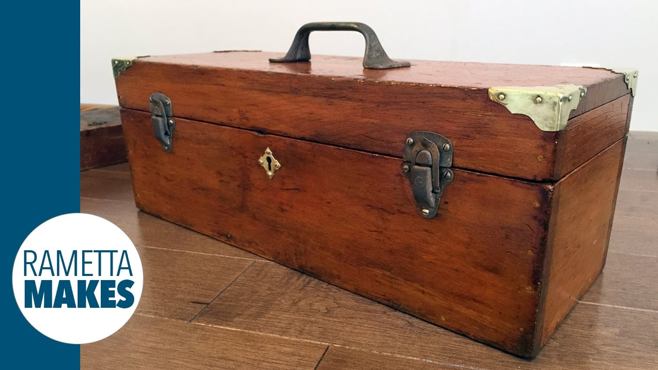 How To Restore An Antique Wood Toolbox Diy Youtube