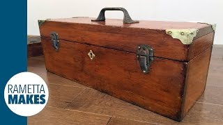 How to Restore a Wooden Toolbox // DIY