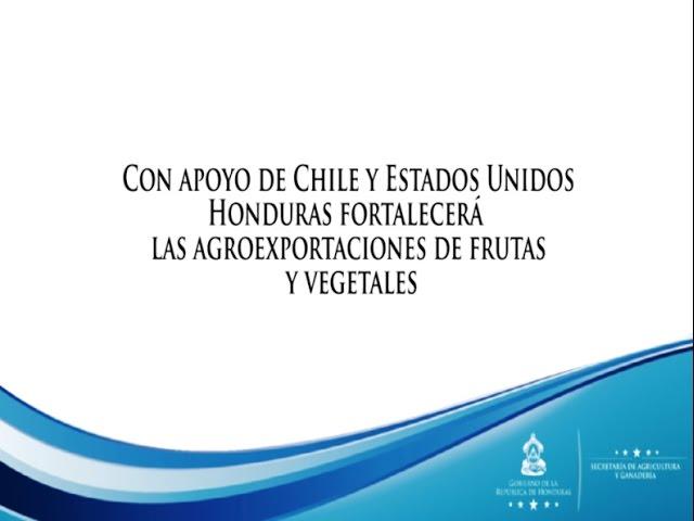 Chile y EEUU apoyarán a Honduras en Agroexportaciones