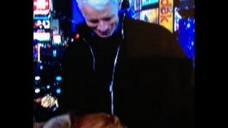 Kathy Griffin Forces Oral Sex on Anderson Cooper! 12/31/12 Times Square