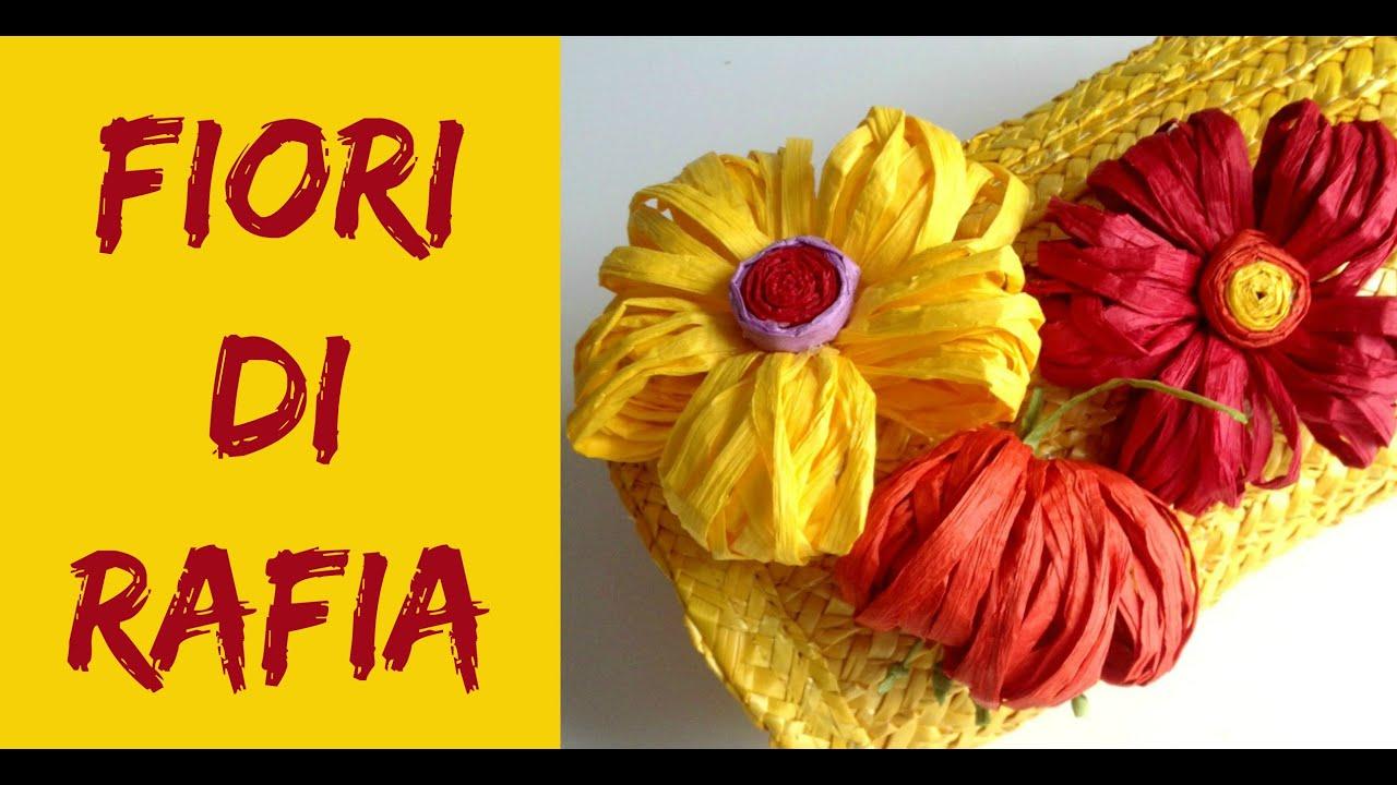 Top Come fare Fiori di Rafia/ How to make Raffia Flowers (Riciclo  BC74