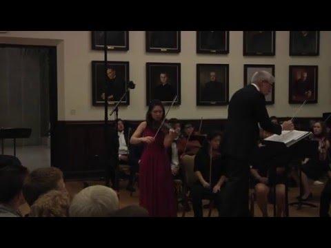 Tchaikovsky Violin Concerto -  Elizabeth Cai, Boston College 2016