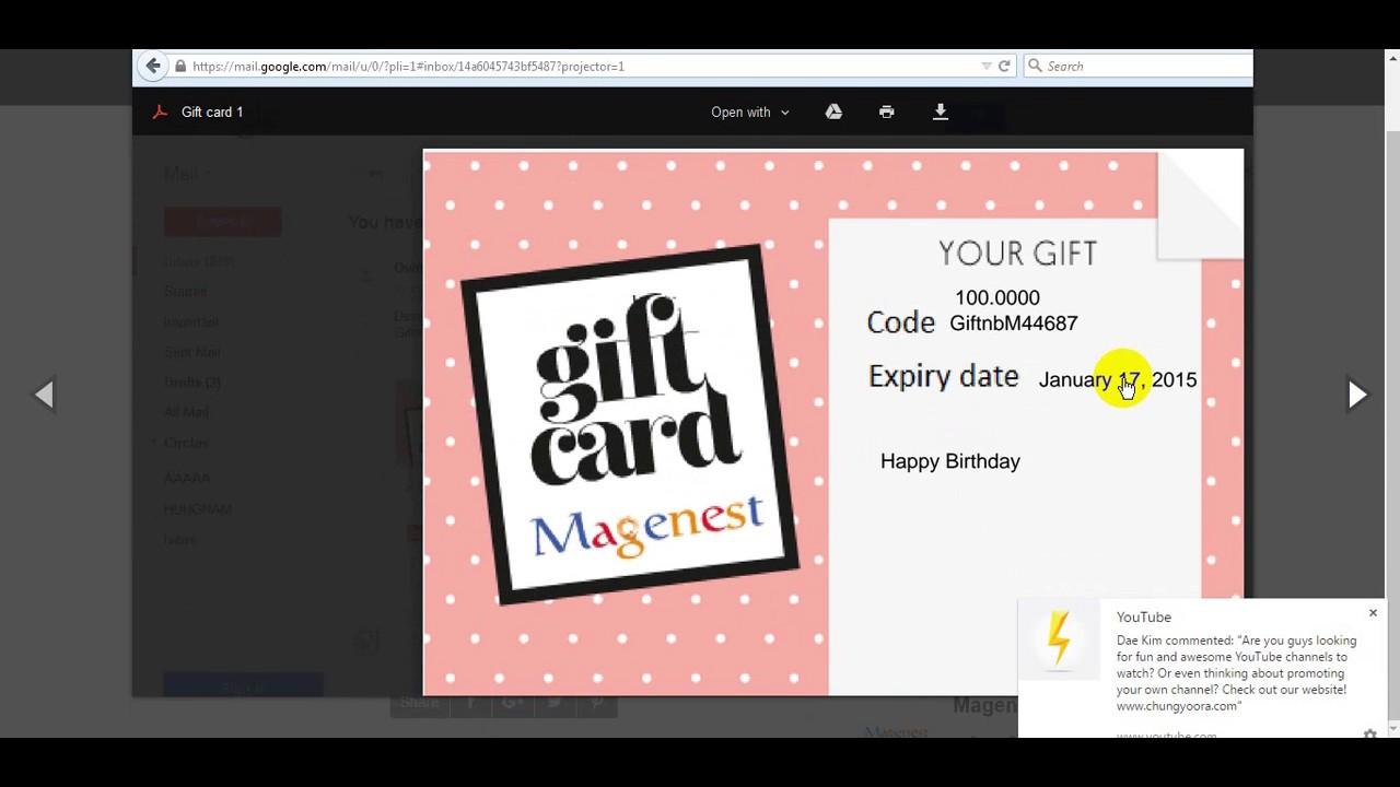 Woocommerce Gift Card Pro Youtube