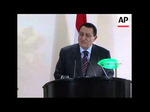 Olmert meets Mubarak; excerpts of news conference