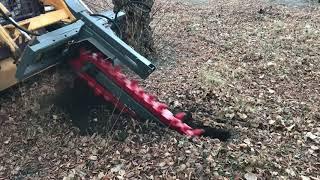 Экскаватор траншейный на мини погрузчик для тяжелых грунтов ЭТр 120/16