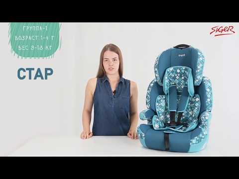 Обзор автокресла Siger Стар. Детские кресла группы 1 2 3 с ISOFIX и без. Универсальное автокресло