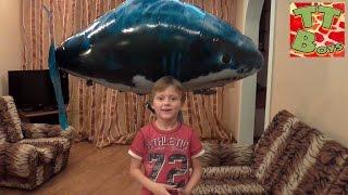 ✔ Игрушки Для Детей — Игра С Летающей Акулой / Air Swimmers Remote Control Flying Fish
