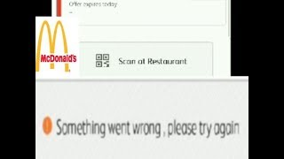Something went wrong, please try again McDonald