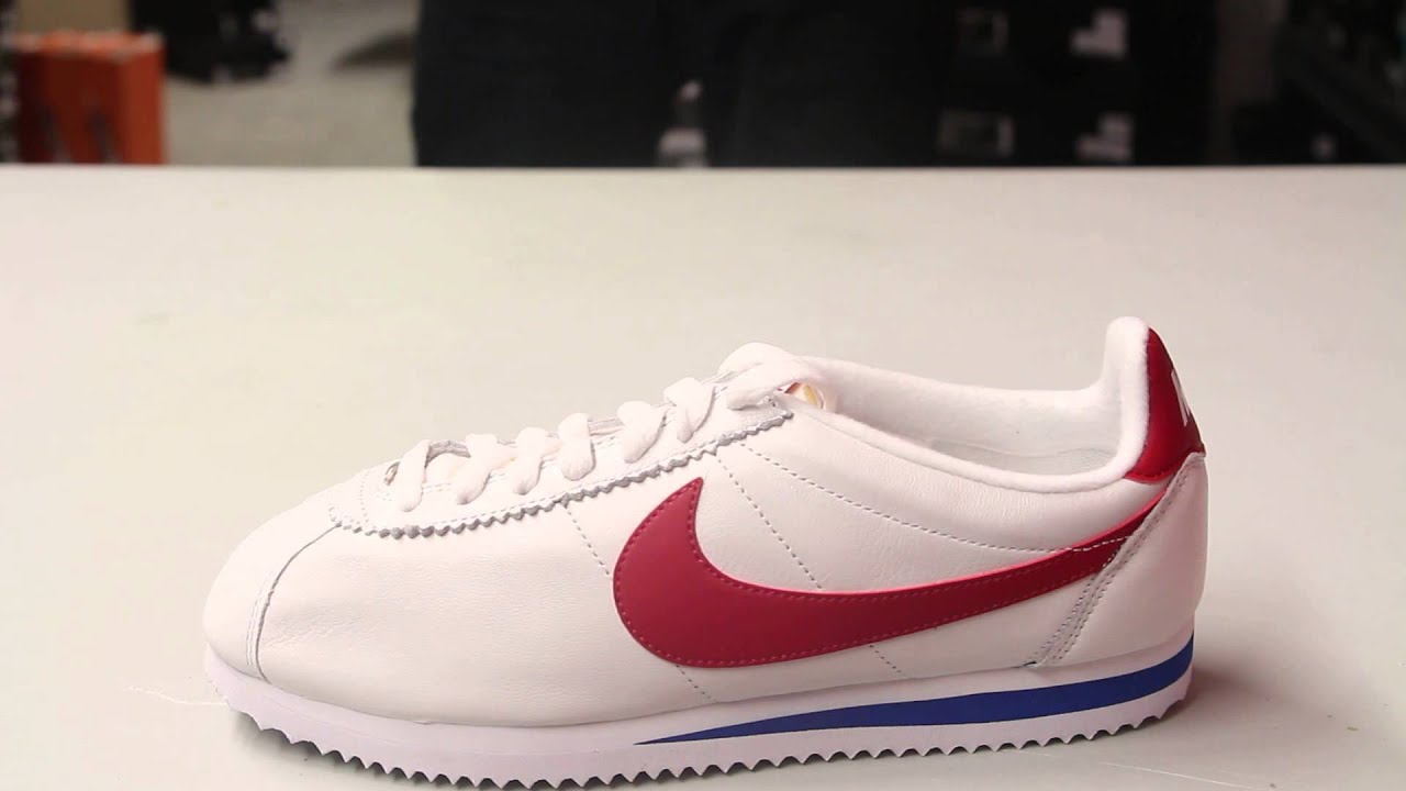 nike classic cortez trainers in retro leather