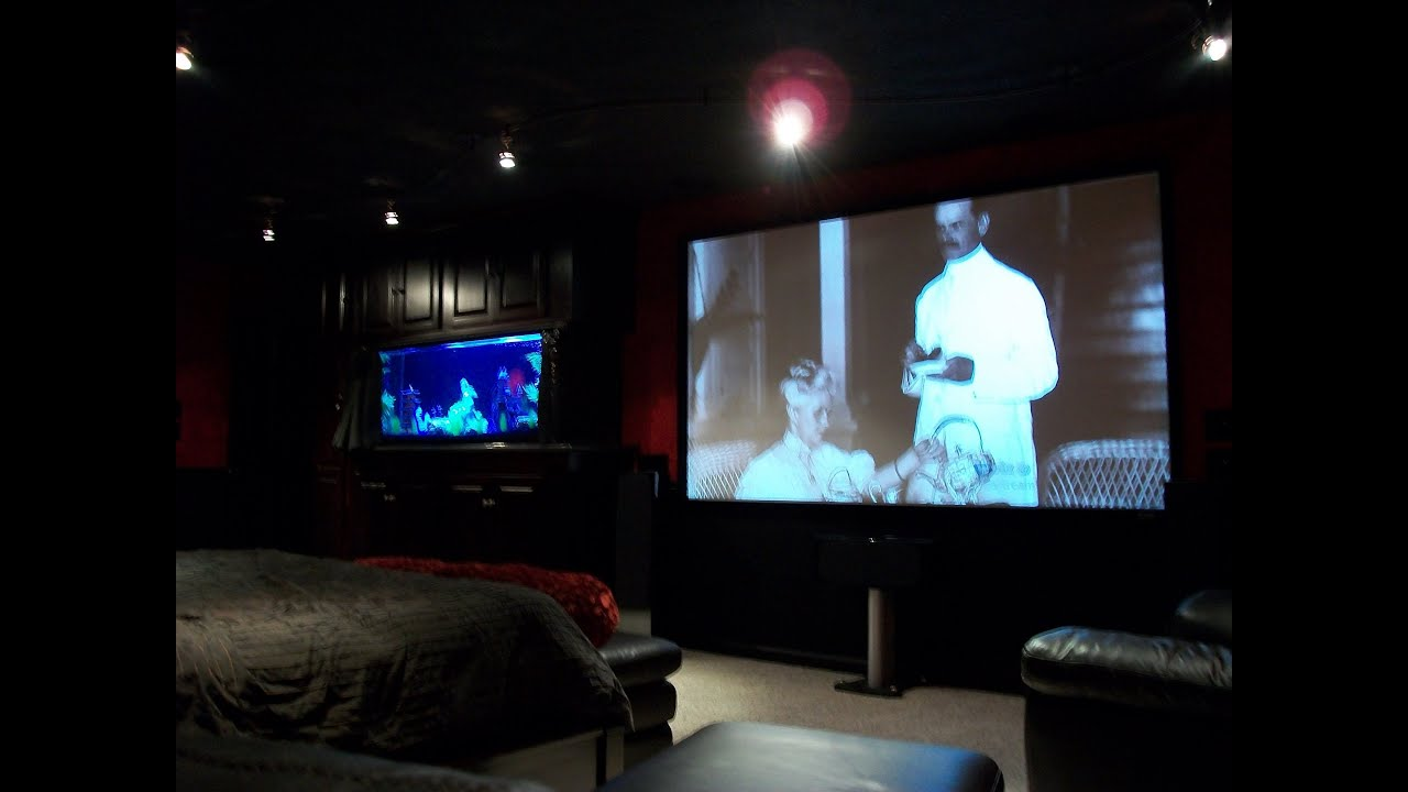 bedroom movie theater av rack youtube