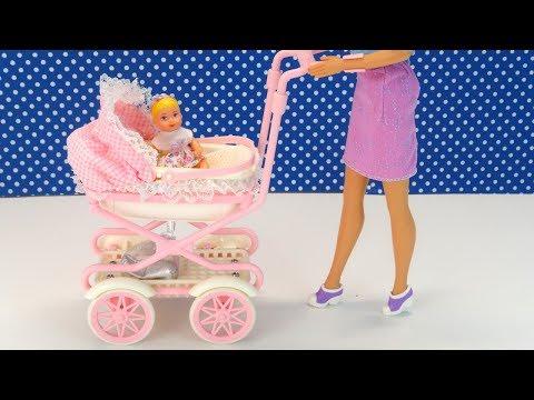 Кукла Барби с Коляской Ходит Сама! Чудо Игрушка Для девочек Мультик для детей IkuklaTV