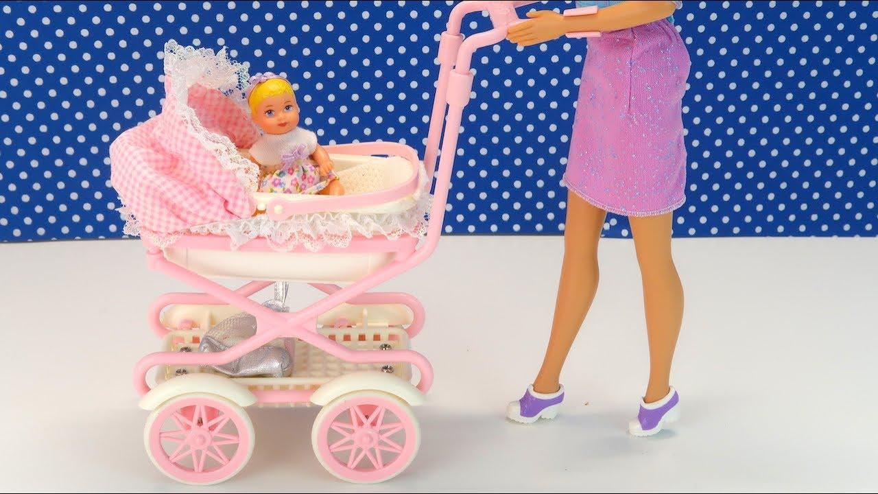 Кукла Барби с Коляской Ходит Сама! Чудо Игрушка Для ...