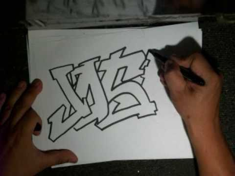 Drawing a Simple Graffiti (Requested)- (JOSE) - YouTube