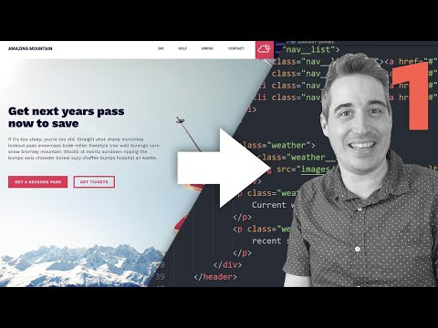 From Design To Code - HTML & CSS Tutorial [ Part One ]
